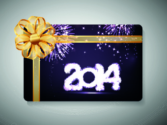 2014 new year with christmas vector cards