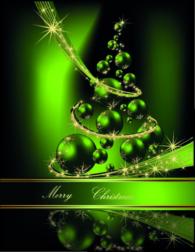 2014 sparkling christmas tree backgrounds vector