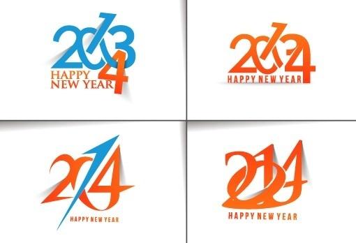 2014 text creative design vectors