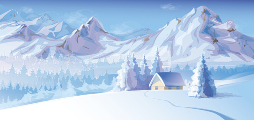 2014 winter vector background