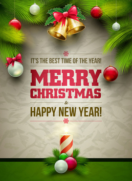 2014 xmas poster backgrounds vector