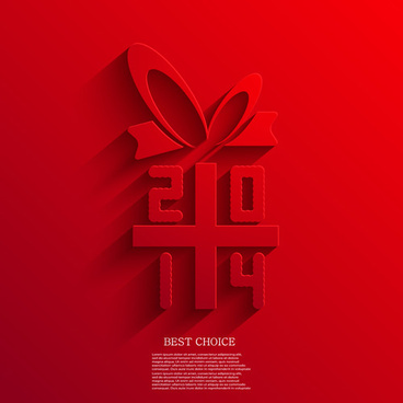 2014 xmas red background vector set