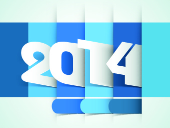 2014 year vector background set