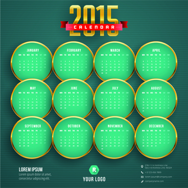 2015 business calendar creative design vector