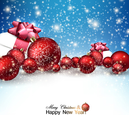 2015 christmas and new year baubles background vector