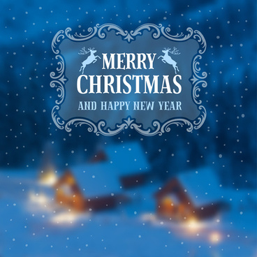 2015 christmas and new year blurred backgrounds vector
