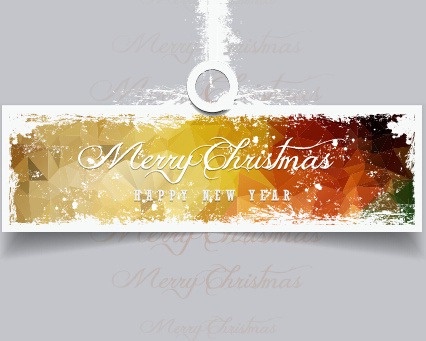 2015 christmas and new year grunge banner