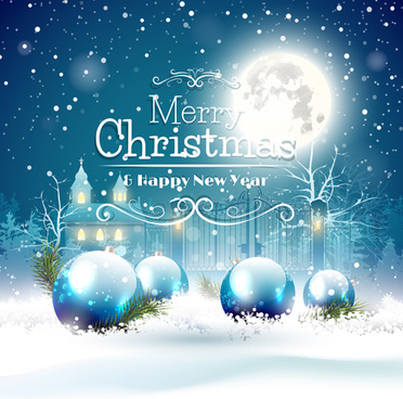 2015 christmas and new year night background vector