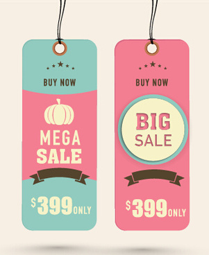 2015 christmas cardboard discount tags vector