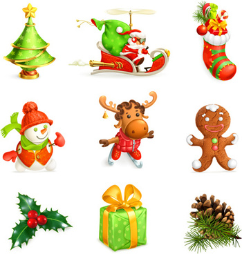 2015 christmas gift ornament illustration vector