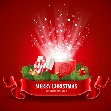 2015 christmas gift red style background