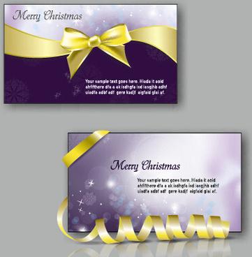 2015 christmas greeting cards vector set
