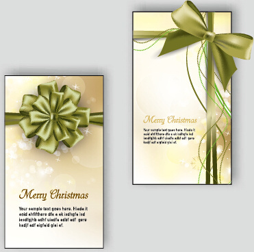2015 christmas greeting cards vector set