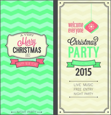 Free vector christmas invitations free vector download 8322 free 2015 christmas invitation cards vintage style vector set stopboris Choice Image