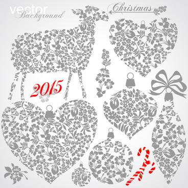 2015 christmas ornament elements design vector