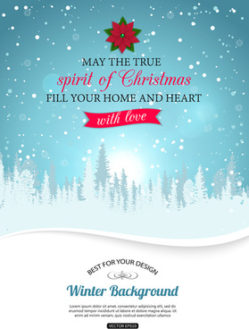 2015 christmas snow winter background vector