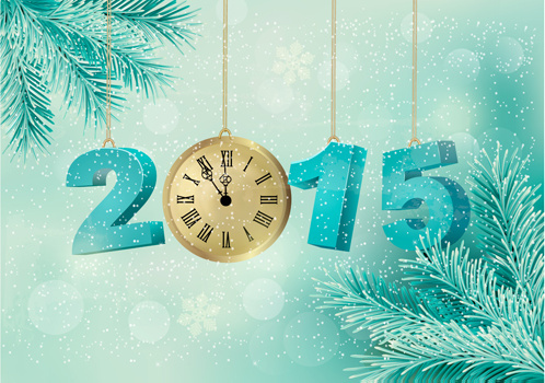 2015 christmas with new year pendant creative background