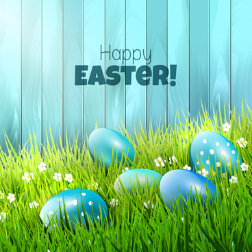 2015 easter with spring background vector