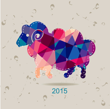2015 geometric shapes goat creative vector