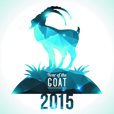 2015 goats holiday background art