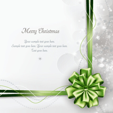 2015 merry christmas bow greeting cards vector