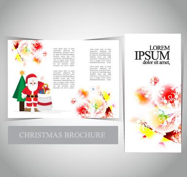2015 merry christmas brochure cover set vector