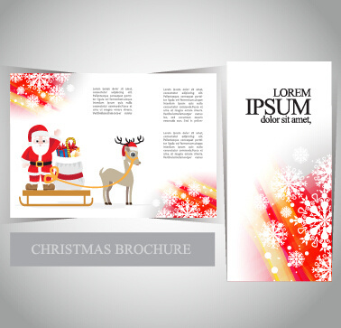 2015 merry christmas brochure cover set vector