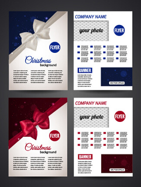 2015 merry christmas flyer cover vector design