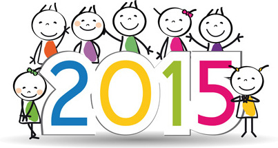2015 new year and child design vector
