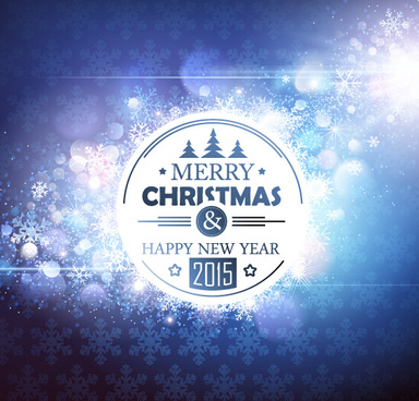 2015 new year and christmas dream background vector
