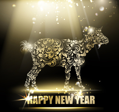 2015 new year for goat creative background vector