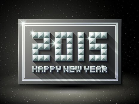 2015 new year shiny embossment effect background