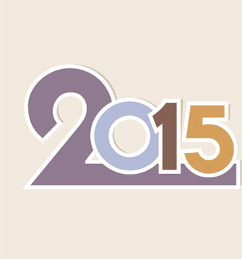 2015 new year theme vector