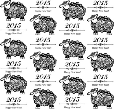 2015 sheep year background creative vector