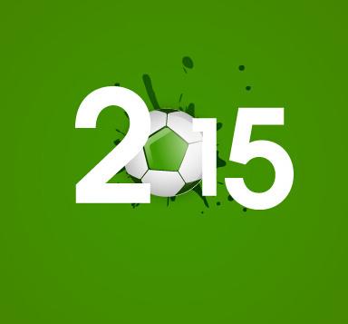 2015 soccer green background vector