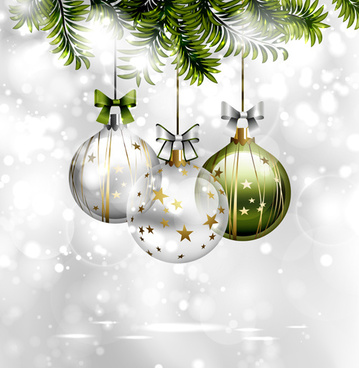 2015 transparent christmas ball shiny background vector