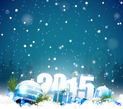 2015 winter christmas vector backgrounds
