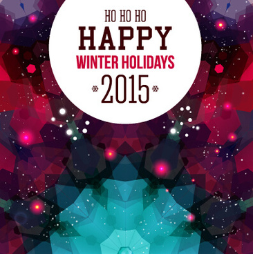 2015 winter holiday new year background vector