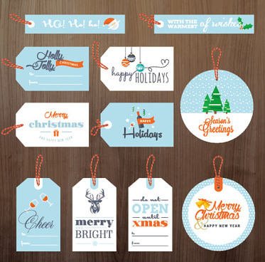 2015 xmas and new year tags vector graphics