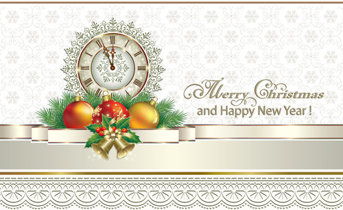 2016 christmas new year gold background vectors