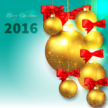 2016 gold christmas decor ball