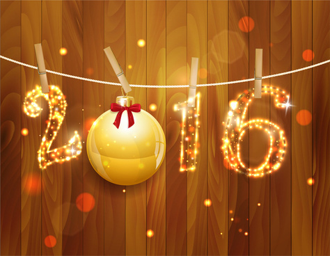 2016 golden light christmas decoration