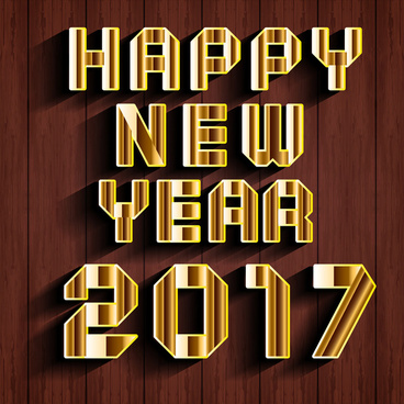 2017 card design with wooden background illustration