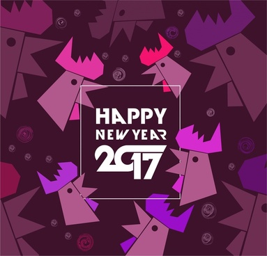 2017 new year backdrop geometric roosters collection style