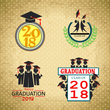 2018 graduation templates design with classical style
