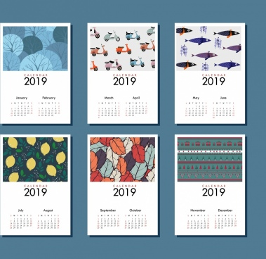 2019 Calendar Free Vector Download 1536 Free Vector For