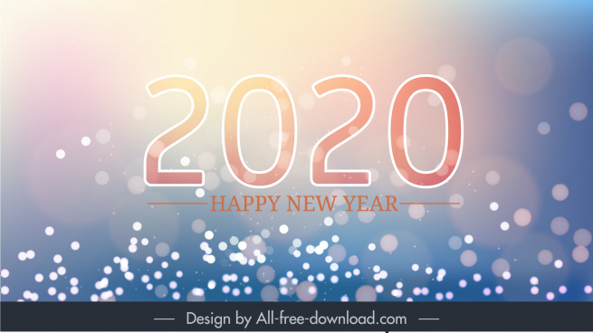 2020 new year banner vivid sparkling light decor