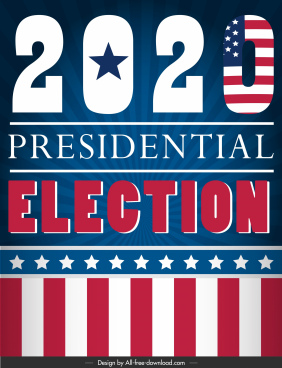 2020 presidential election banner modern colorful decor