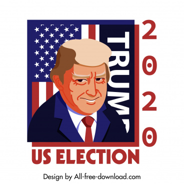 2020 usa election banner president sketch cartoon design