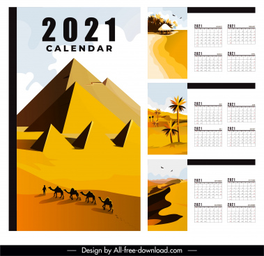 2021 calendar template natural landscape decor